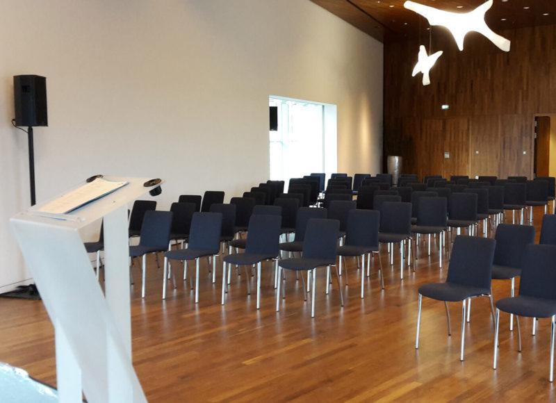 Salle Banquet en configuration théâtre